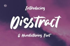Web Font Disstract - A Handlettering Font Product Image 1