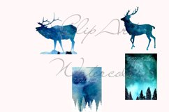 Winter cards , deer , Christmas tree Product Image 2