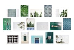 Summer stock photos Lisbon green tiles texture plants Product Image 5