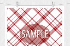 Christmas Digital Paper  - Plaid Digital Paper Product Image 4