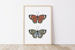 Boho butterfly print, Digital butterfly print, Birthday gift Product Image 1