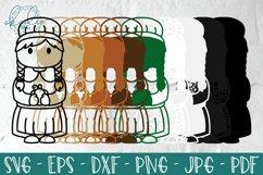 3D Thanksgiving Characters SVG, Papercut Turkey, Pilgrim DXF Product Image 4