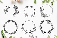 Hand-drawn Wreath SVG Cut File Bundle Product Image 2