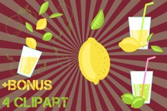 Lemon citrus pattern - set of 8 Product Image 2