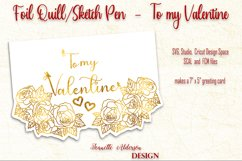 single line foil To my Valentine cutting foil greeting card Product Image 5