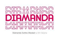 Diamanda Stacked - Retro Font Product Image 6
