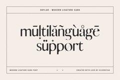 skylar - modern ligature sans font Product Image 2