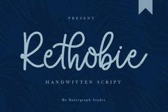 Rethobie Handwritten Script Font Product Image 1