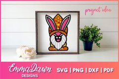 3D LAYERED EASTER BUNNY GNOME SVG, 3D SVG, 7 LAYERS Product Image 4