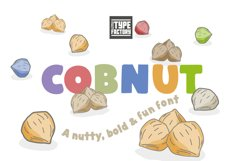 Cobnut - a nutty, bold and fun font Product Image 6