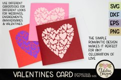 Love Card SVG - Love Valentine Heart SVG Cutting File Product Image 4