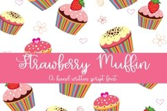 Web Font Strawberry Muffin - A Hand-Written Script Font Product Image 1