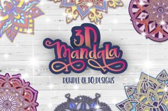 3D Mandala svg bundle Papercut SVG Zentangle Product Image 1