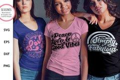 Retro Inspirational Bundle - Vintage Love & Kindness SVG Product Image 2