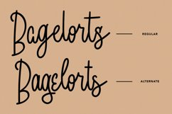 Bagelorts Handwritten Script Font Product Image 4