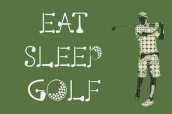 Putting Green - A Quirky Font for Golfers Product Image 3