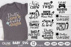 Baby SVG Bundle |12 Baby Quotes SVG Product Image 1