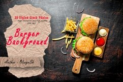 20 Photos Burgers with sauces and spices. Burger backgrounds Product Image 1