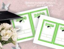 Invitation Template editable text - GREEN - Graduation 2021 Product Image 4
