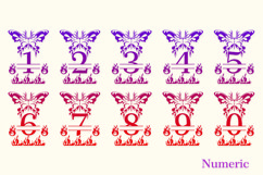 Butterfly Fire Monogram Product Image 5