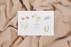 Wildflower svg, Daisy svg, Kawaii svg, Simple flower clipart Product Image 3