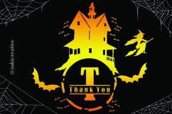 House Halloween Monogram Product Image 2