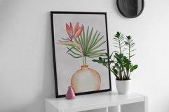 "Watercolor ClipArt ""Tropics Indoor Product Image 6"