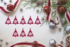 Christmas tree monogram split letter Product Image 6