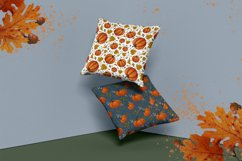 set of autumn seamless patterns with pumpkins Product Image 4