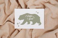 Papa bear svg, Fathers day svg, Bear family svg, Modern svg Product Image 3