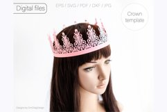 Birthday crown svg cricut Tiara svg Princess crown svg Product Image 3