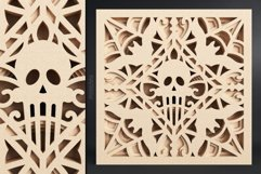 Halloween Mandala 3D Layered SVG Cut File Product Image 6