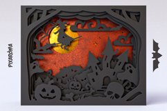 Halloween Shadowbox 3D Layered SVG Cut File Product Image 6