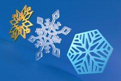 Laser Cut Files Vol.1 - 50 Snowflake Ornaments Product Image 6