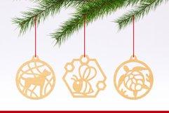 Laser Cut Files Vol.3 - 50 Animal Ornaments Bundle Product Image 6