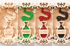 Magic Potion Wall Art 3D Layered SVG Cut File Product Image 6