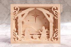 Nativity Scene 3D Layered SVG Cut File Product Image 6