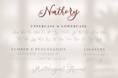 Niathory - Modern Calligraphy Font Product Image 6