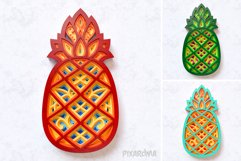 Pineapple 3D Layered SVG Cut File Product Image 6
