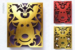 Reindeer 3D Layered SVG Cut File Product Image 6