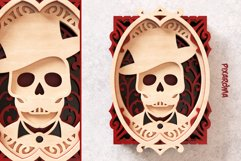 Skull Portrait Wall Art 3D Layered SVG Cut File Product Image 6