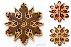 Snowflake 01 3D Layered SVG Cut File Product Image 6