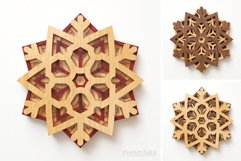 Snowflake 02 3D Layered SVG Cut File Product Image 6