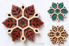 Snowflake 03 3D Layered SVG Cut File Product Image 6