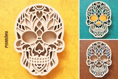Sugar Skull 3D Layered SVG Cut File Product Image 6