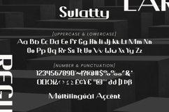 Sulatty - Sans Serif Font Product Image 6