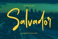 Web Font Salvador - A Handwritten Font Product Image 1