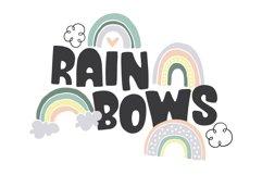 Rain or Shine Font & Doodles! Product Image 3