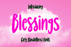 Web Font Blessings - Girly Handlettered Font Product Image 1