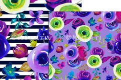 Watercolor Floral Seamless Patterns Product Image 4